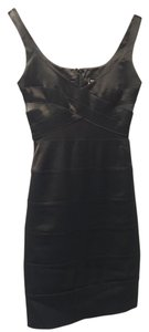 bebe Cut Out Bandage Silk Dress