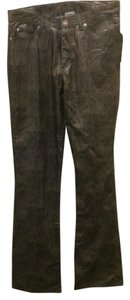 Playboy Leather Night Out Shift Straight Leg Jeans-Distressed