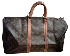 Louis Vuitton Speedy Monogram Vintage Keepall brown Travel Bag