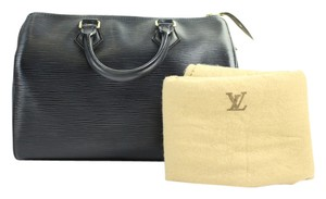 Louis Vuitton Boston Duffle Keepall Satchel in Black
