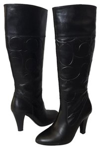Coach Leather Black Boots