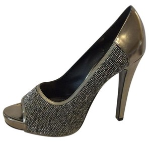 Givenchy Gray Pewter Pumps