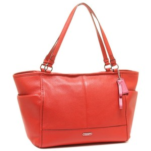 Coach Park Carrie Large Leather Tote in Watermelon