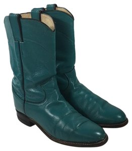 Justin Cowboy Western Texas teal Boots