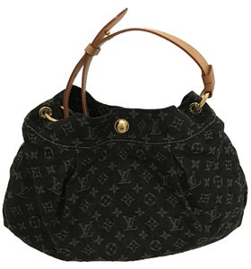 Louis Vuitton Denim Limited Edition Black Hobo Bag