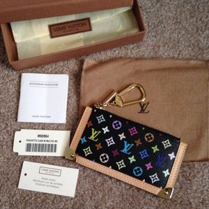 Louis Vuitton Vintage Black Multicolor Cles/keychain/cards Wallet