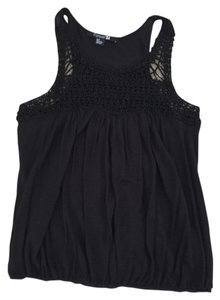 Forever 21 Detail Top Black