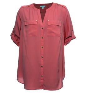 Charter Club Button Down Shirt Pink