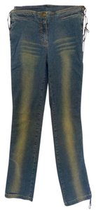 Plein Sud Straight Leg Jeans-Coated