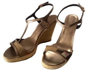 6e6d9949ad6 Gold Burberry Wedges - Up to 90% off at Tradesy