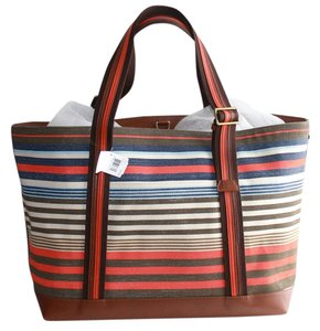 Coach New With Designer Great Price Summer Colors Striped blue,orange,grey Beach Bag