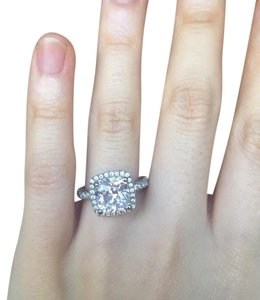 NSCD Lab Simulated Diamond Ring Size 4.5 Princess