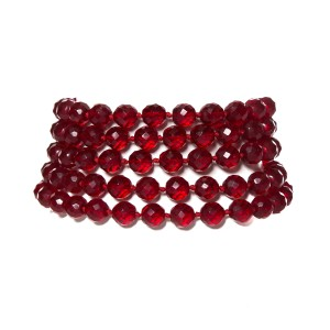 Chanel Chanel Vintae Red Multi-Strand Necklace