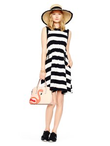 Kate Spade short dress black/white striped on Tradesy