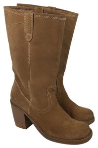 Steve Madden Suede Campus Pull On natural Boots