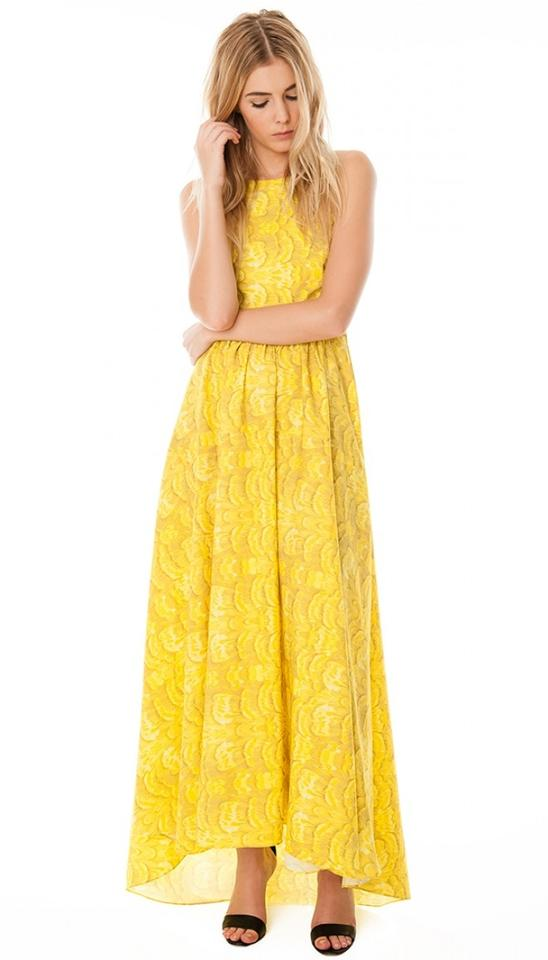 Casual Yellow Dresses Gown