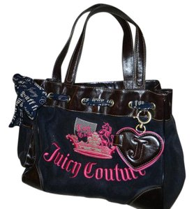Juicy Couture Leather Embroidered Shoulder Bag