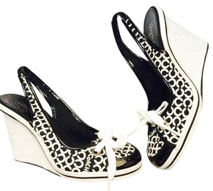 Coach Black & White Wedges