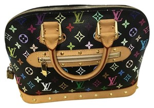 Louis Vuitton Limited Edition Discontinued Like New Satchel in Black Multi Monogram