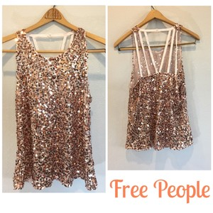 Free People Top Rose Gold