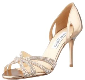 Jimmy Choo rose gold Pumps