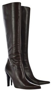 Escada High Pointed Toe Brown Boots