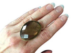 Other Faceted smokey quartz fashion ring.