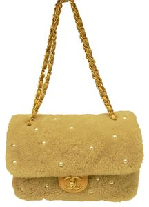 Chanel Flap Suede Sheepskin Shoulder Bag
