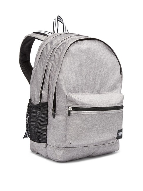 Item - New Pink Laptop School Gray Cotton Backpack