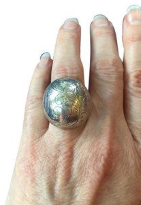 Other Sterling Silver Carved Dome Ring