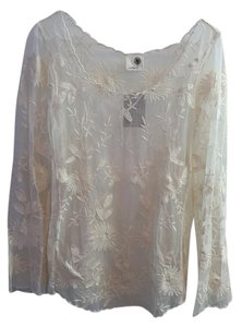 Anthropologie Everleigh Top Ivory