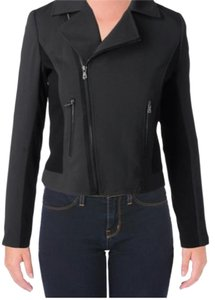 Tahari Moto Black Motorcycle Jacket