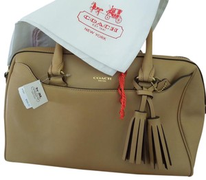 Coach Leather Satchel in Sand
