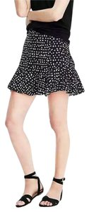 Banana Republic Polyester Mini Skirt Black Polka Dot