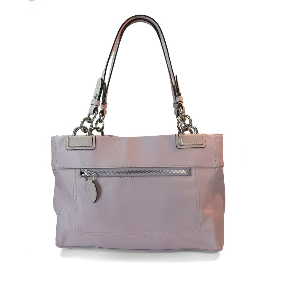 f00df4d6fe Coach F16531 Penelope Turnlock Croc Trim Carryall Lavender Leather Shoulder  Bag