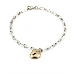 Tiffany & Co. Tiffany & Co. Bracelet with 18k Rose Gold Heart Lock Charm