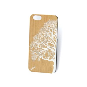 Case Yard NEW Cherry Wood iPhone Case w. White Half Tree Design, iPhone 6+/6s+