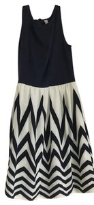 Xhilaration short dress blue, cream on Tradesy