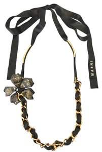 Marni Flower Chain Link Necklace