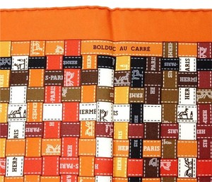 Hermès NEW Authentic HERMES BOLDUC AU CARRE Silk Shawl Wraps Scarf 35