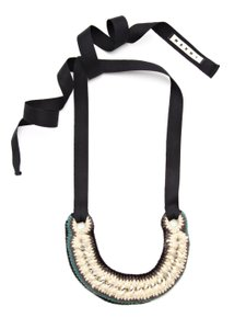Marni NWT! Multicolor Knit Chain Link Necklace