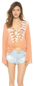Blue Life Tie Dye Top Coral Reef