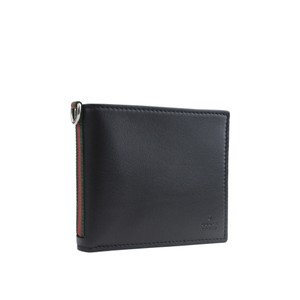 1e241e63112 Gucci Gucci Men s Leather Credit Card Bifold Wallet Webby Moon