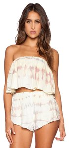 Blue Life Crop Strapless Tie Dye Top Muse