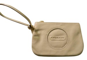 Coach Patent Leather Wristlet in Ivory