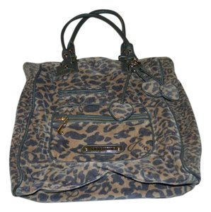 Juicy Couture Leopard Brown Velour Shoulder Bag