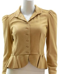 Ralph Lauren Collection Tan Leather Jacket