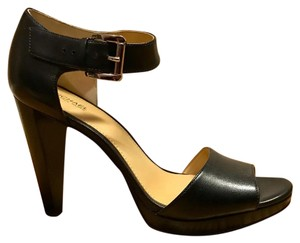 MICHAEL Michael Kors Black Leather Platforms