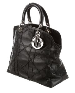 Dior Christian Granville Satchel in Black