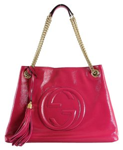 Gucci Soho Medium Chain Tote in Rapberry Pink